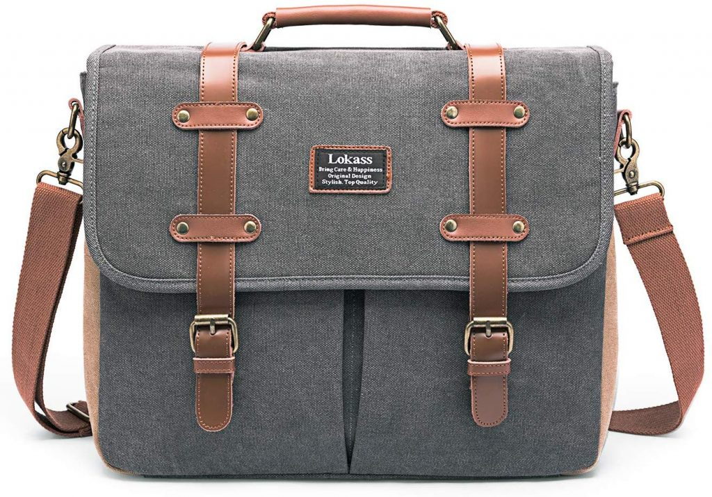 LOKASS Mens Messenger Bag