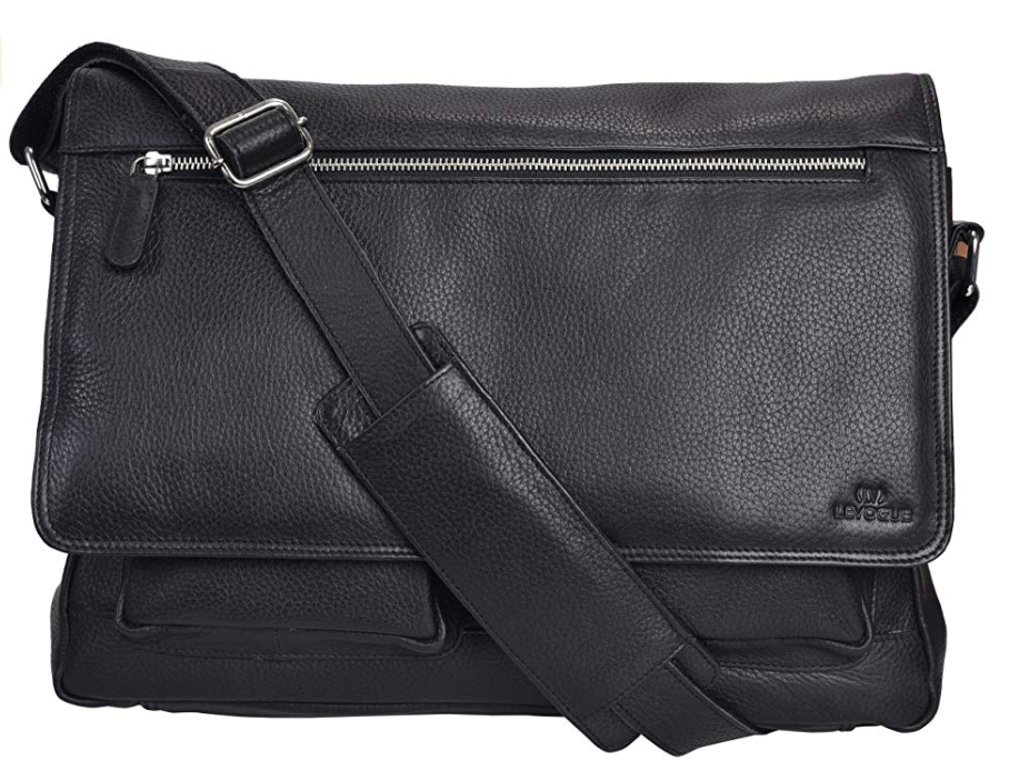 Levogue Leather Messenger Bag for Men