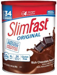 Yay for chocolate-flavored weight loss shakes