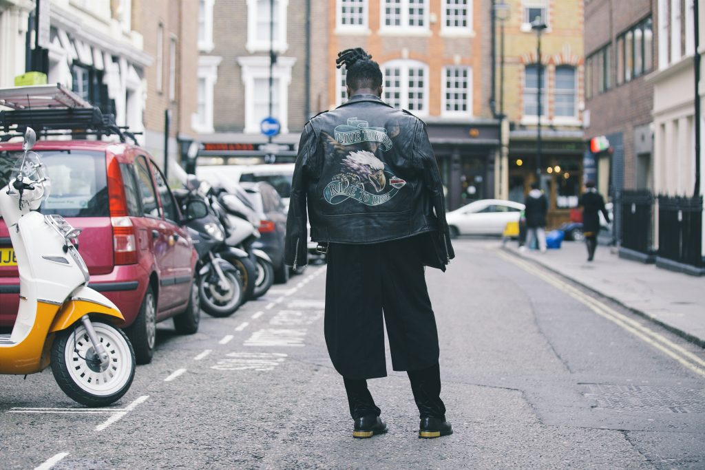 Backview of man in streetwear