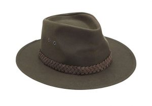 Barbour Wax Bushman Hat in Olive Green