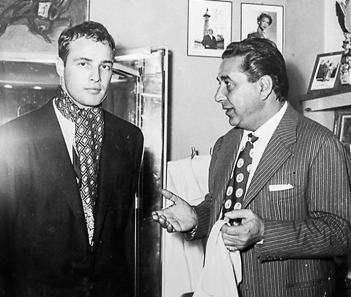 Marlon Brando with Guglielmo Battistoni, Battistoni Bespoke Suits, Bespoke Suit