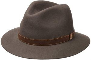 Borsalino Casual Crusher Hat in Taupe with brown lining