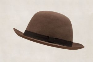 Anderson & Sheppard lightweight grosgrain trimmed felt hat in chocolate colour