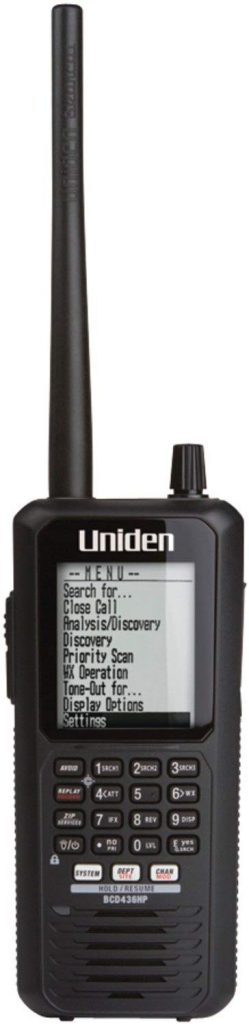 Uniden Home Patrol Digital Handheld Scanner, GPS