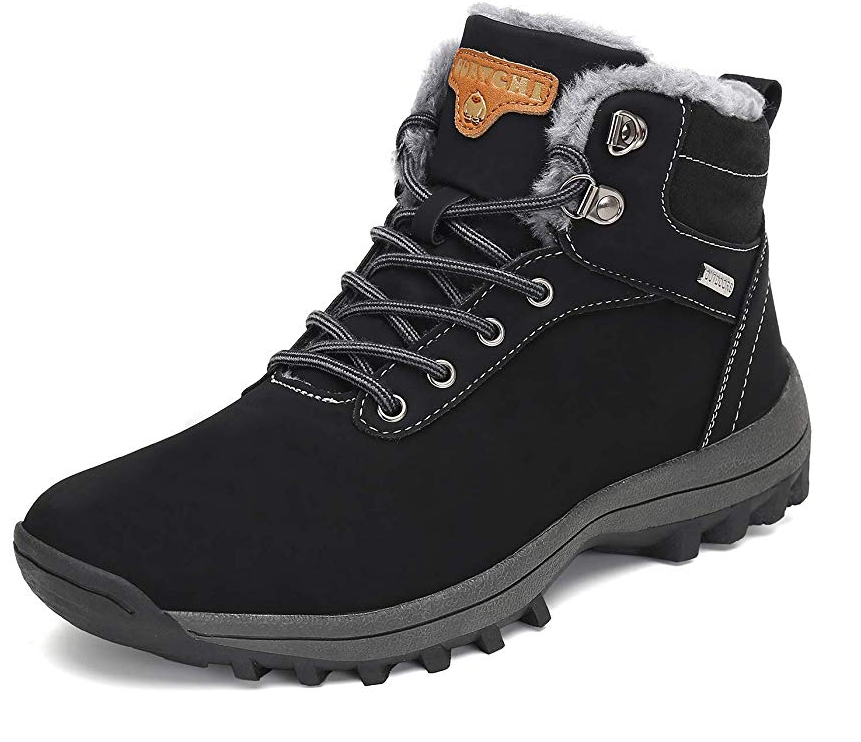 Mishansha Mens Winter Ankle Snow Hiking Boots