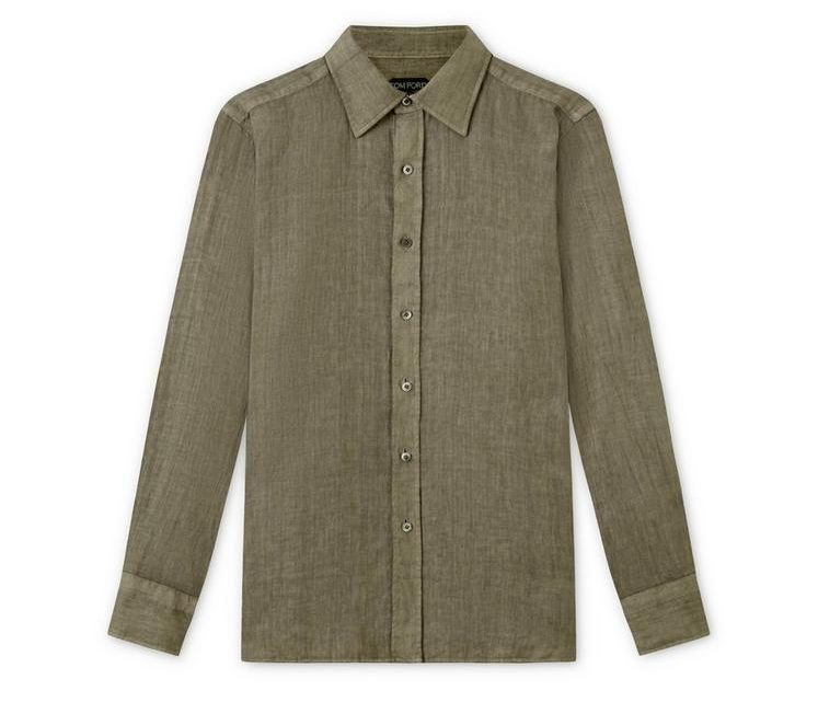 Tom Ford linen shirt in green
