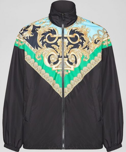 Versace black color Barocco Homme Print Jacket