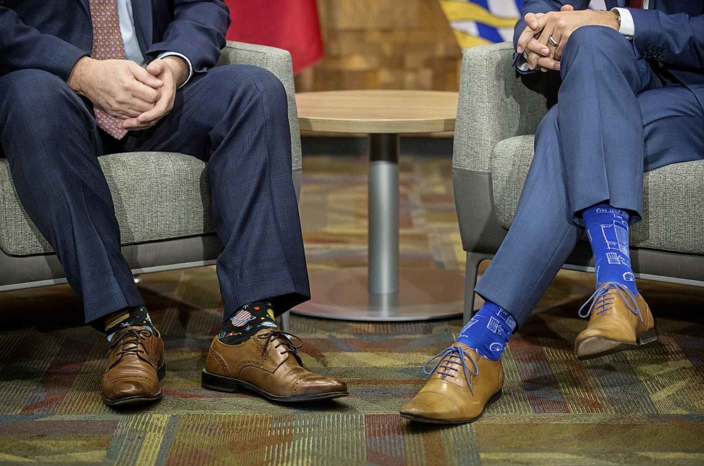 John Horgan and Justin Trudeau's socks