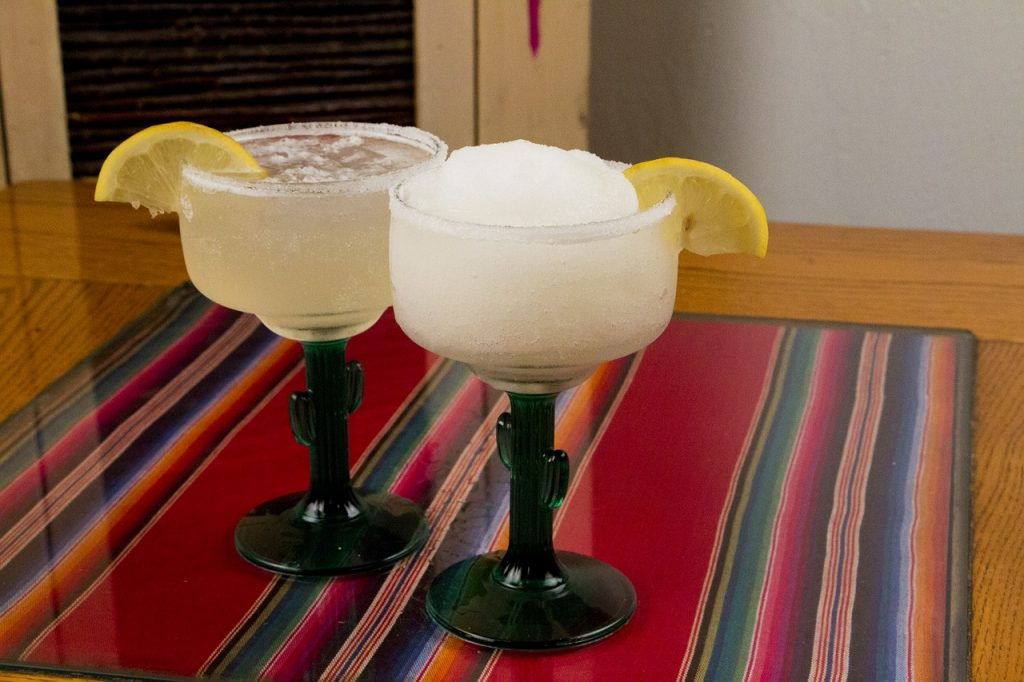 shaken and blended margarita cocktails