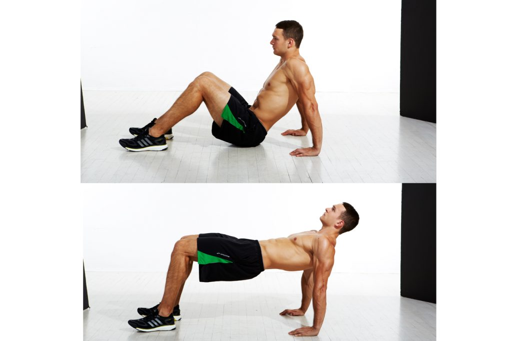 reverse tabletop exercise - challenging glute exercises for men