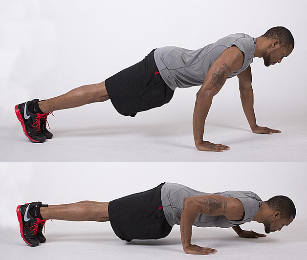 Staggered hands push up