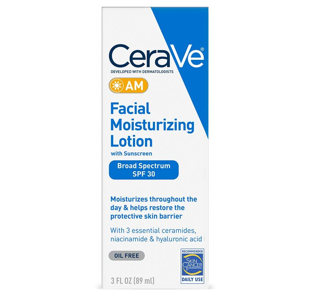 CeraVe AM Facial Moisturizing Lotion with Sunscreen (Broad Spectrum SPF 30)
