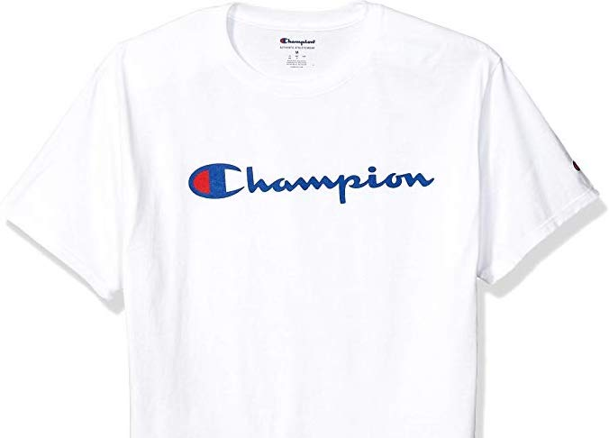 Champion white t-shirt with Champion logo
