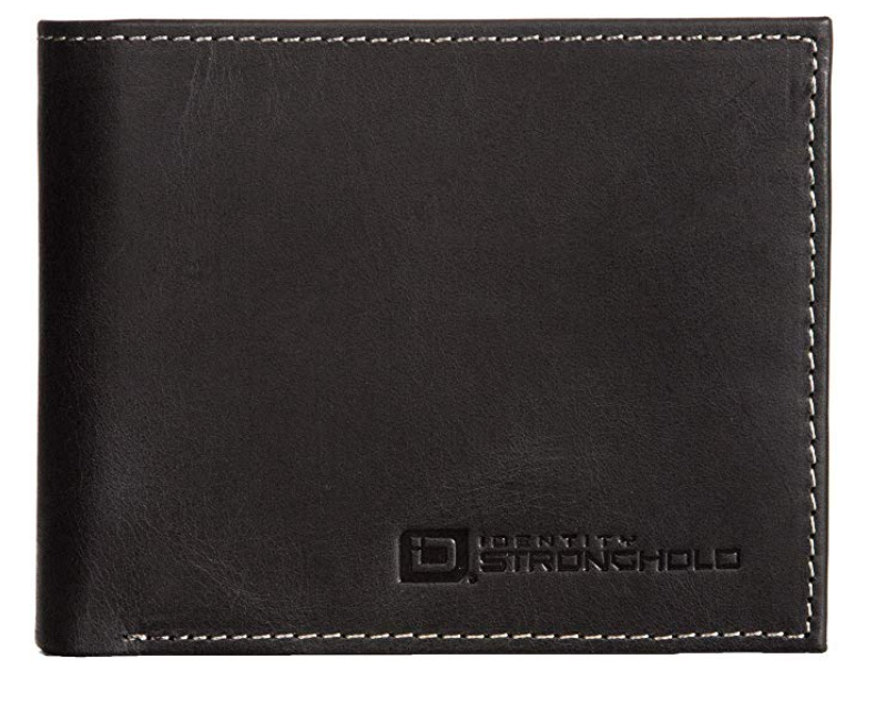 ID Stronghold Extra Capacity Bifold Wallet for Men