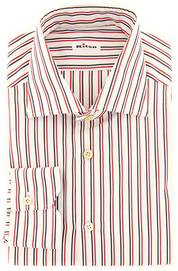 Red striped shirt for business casual outfit