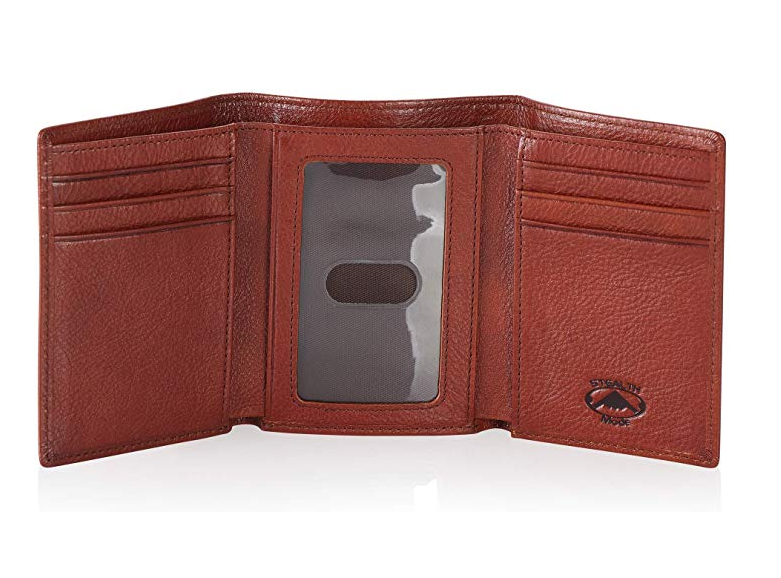 Stealth Mode Trifold Leather Wallet