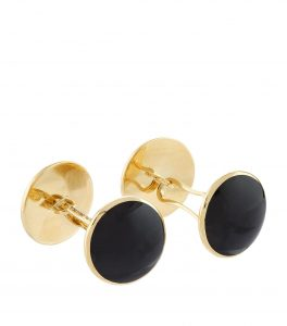 Tom Ford Onyx and Gold Disc Cufflinks, Tom Ford Cufflinks, Gold Cufflinks