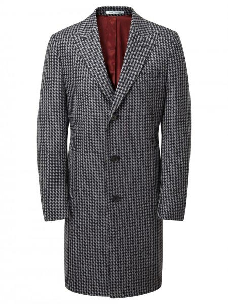 Tommy Nutter Grey & Black Dogtooth Coat