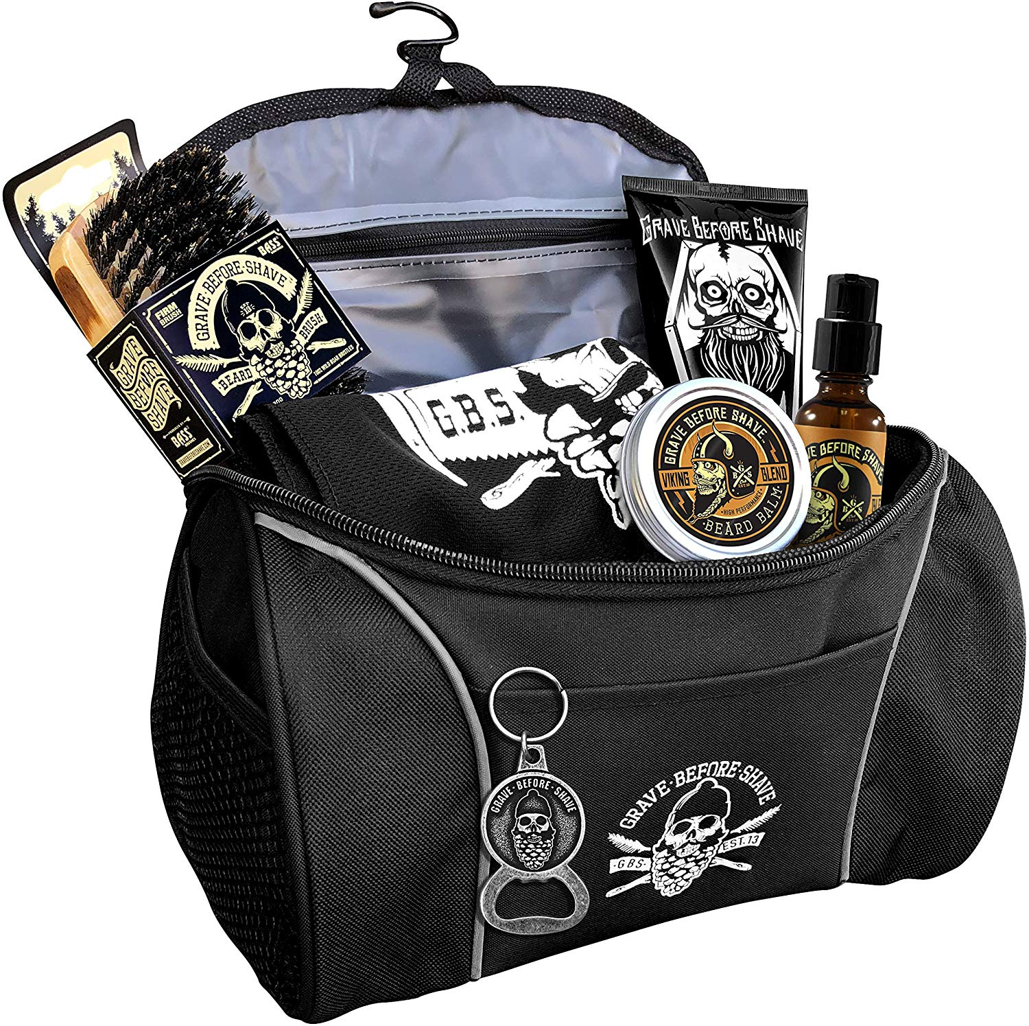 Grave Before Shave Travel Beard Pack, Pre-packaged Shaving Essentials