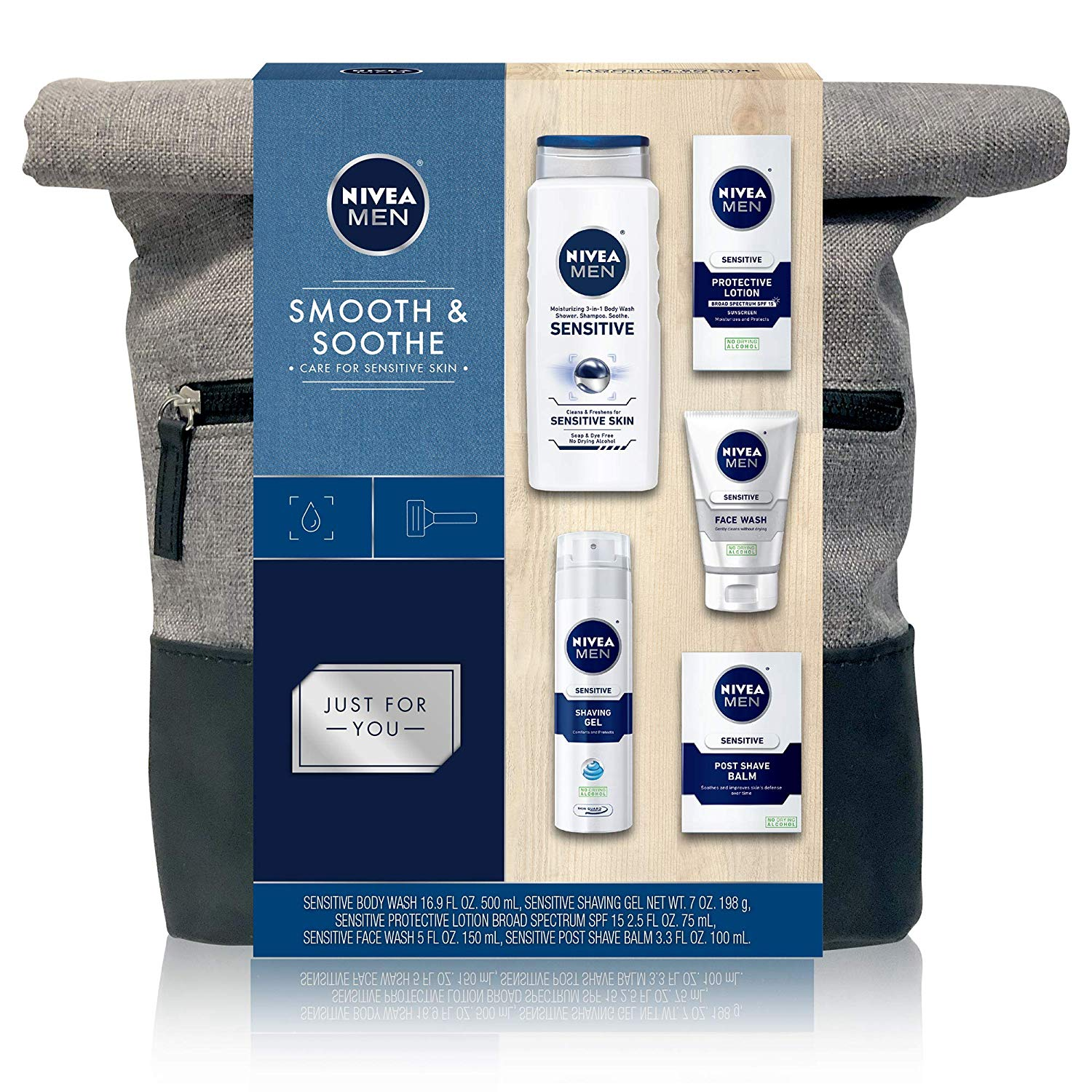 NIVEA Men Dapper Duffel, Pre-packaged Shaving Essentials