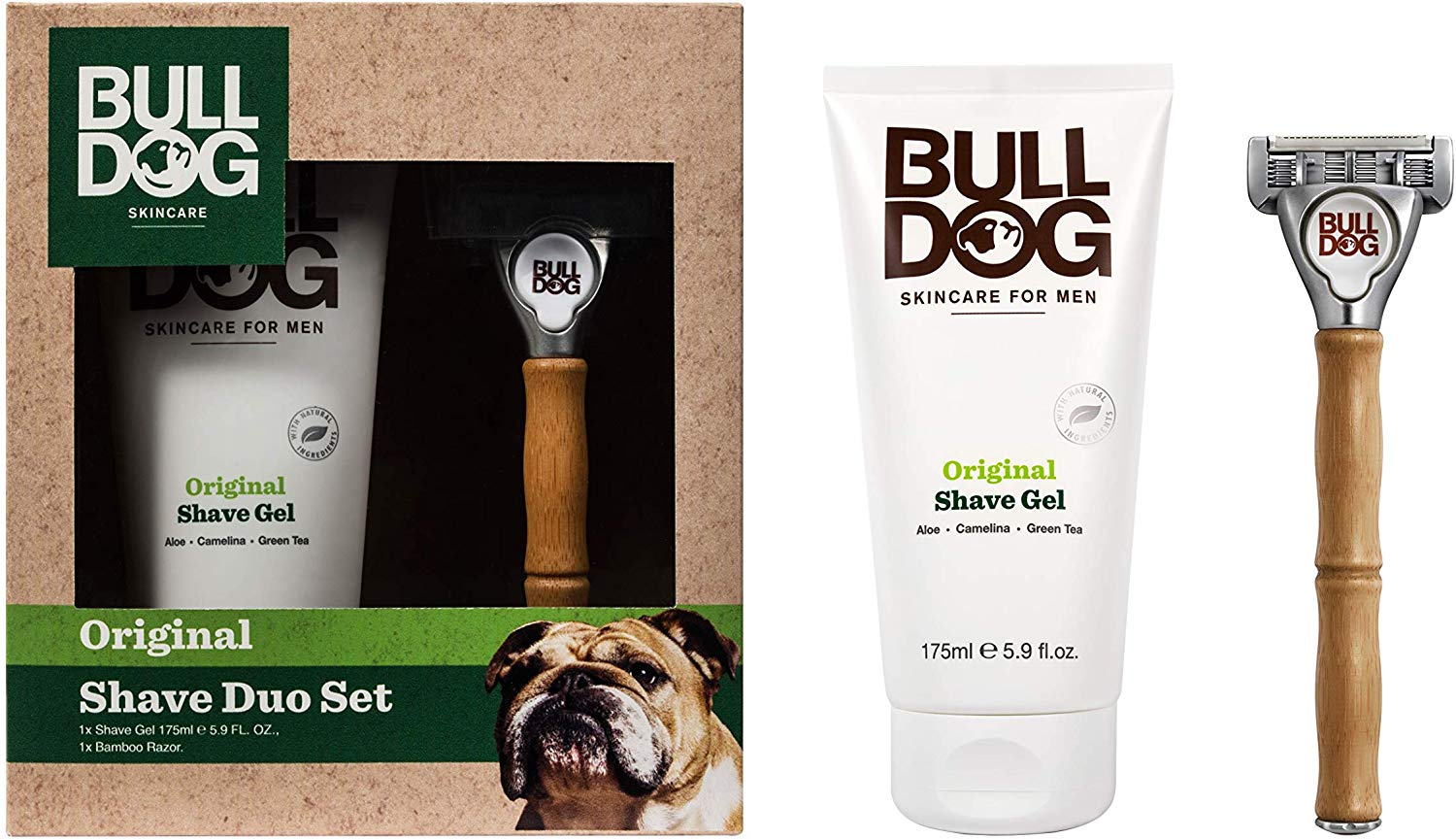 Bulldog Shave Duo Set, Pre-packaged Shaving Essentials