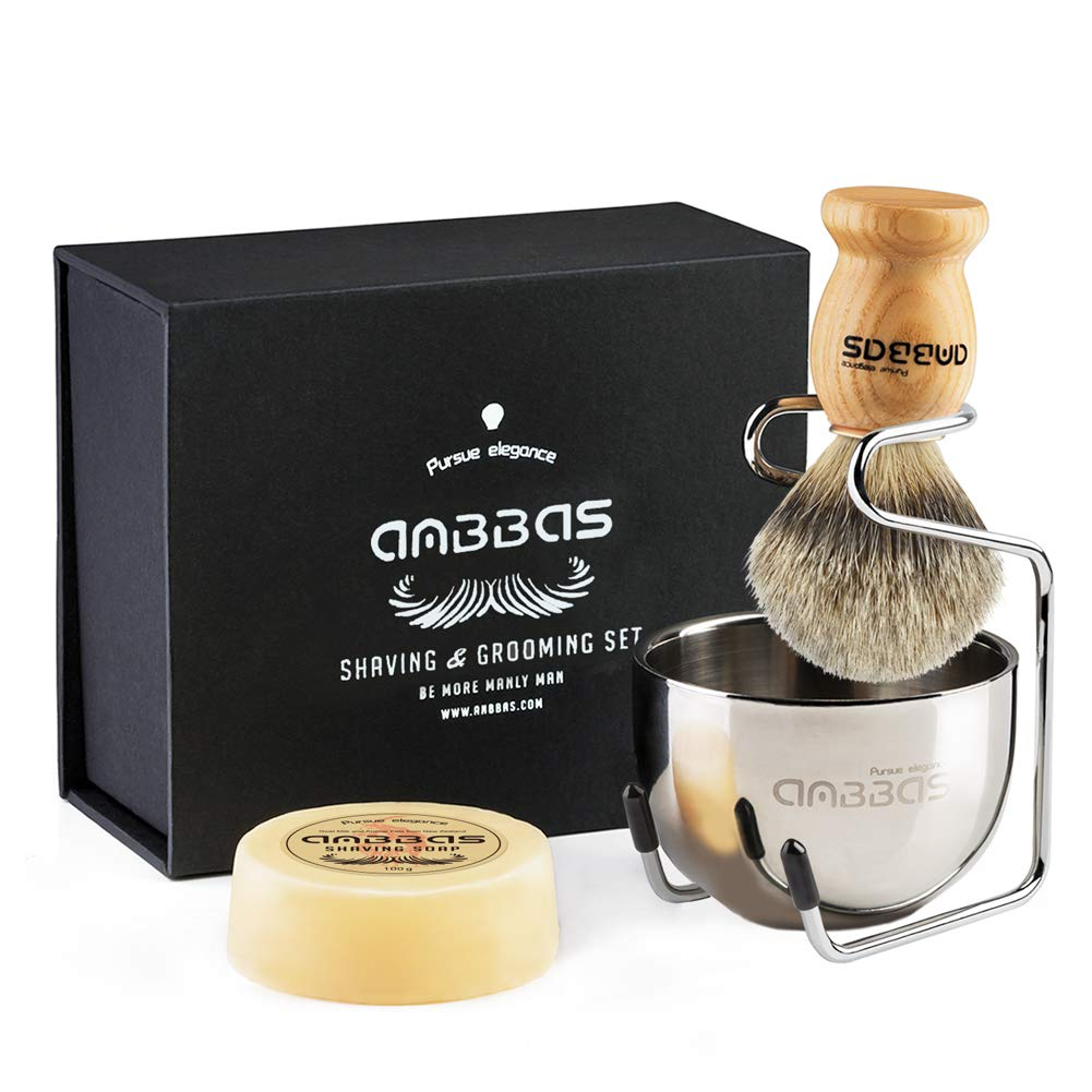 Anbbas Shaving Set, Pre-packaged Shaving Essentials
