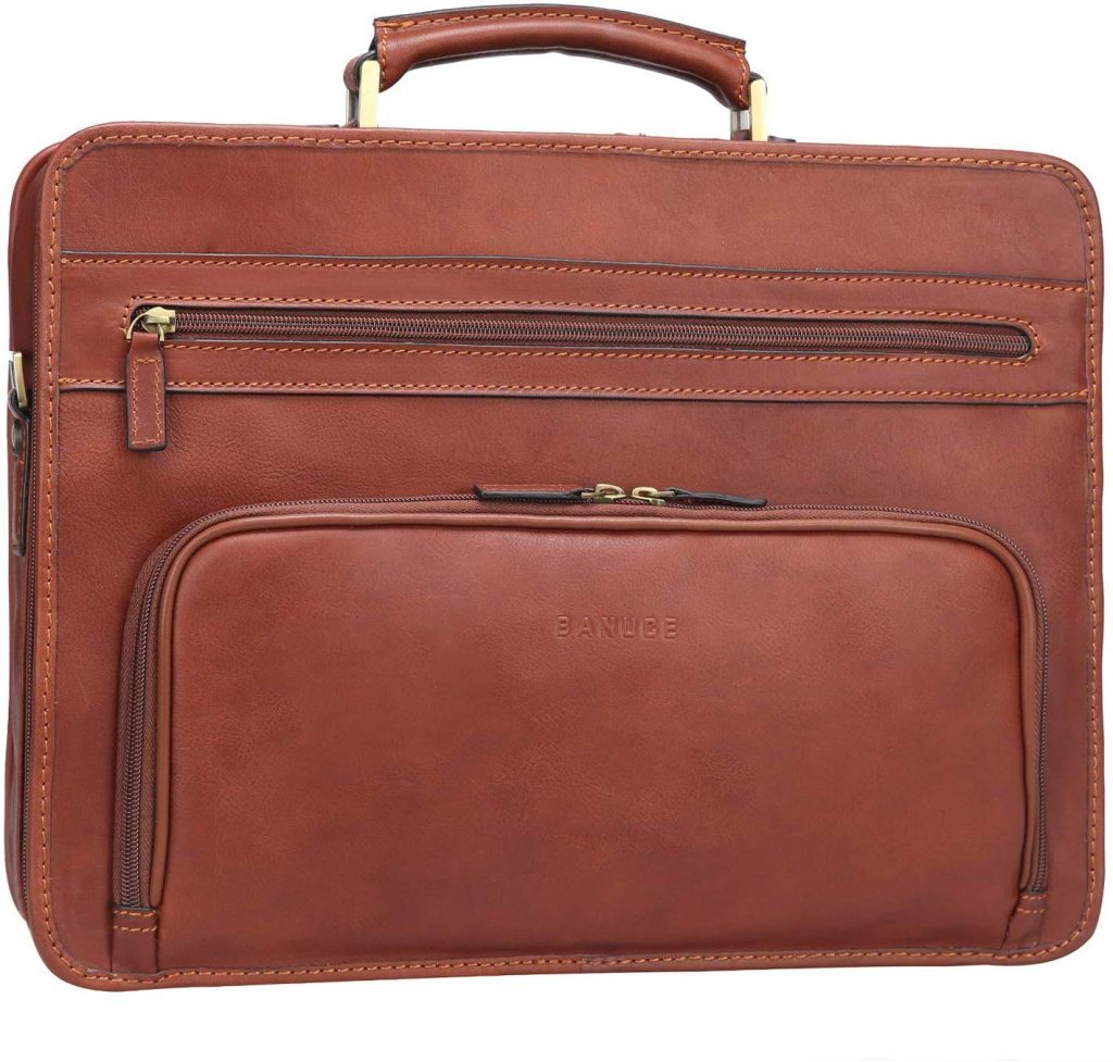 Banuce Full Grains Italian Leather Briefcase