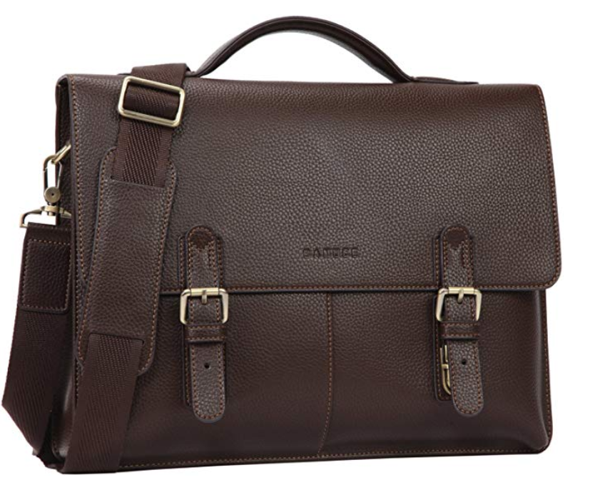 Banuce Vintage Faux Leather Briefcase