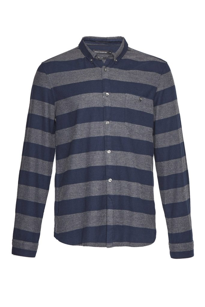 French Connection Flannel Stripe Shirt