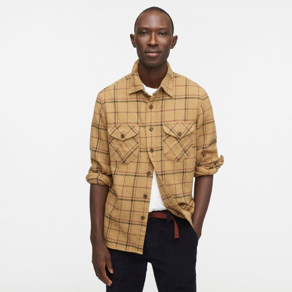 J.Crew Wallace & Barnes Heavyweight Plaid Flannel Shirt