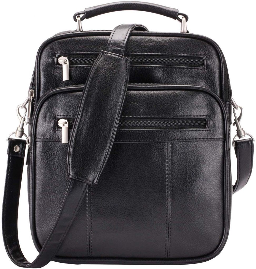 Jack&Chris Men's New PU Leather Briefcase