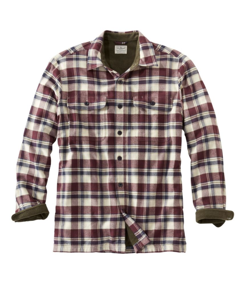 L.L. Bean Fleece-Lined Flannel Shirt