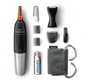 Philips Norelco Nose Hair Trimmer 5100, Nose Hair Trimming