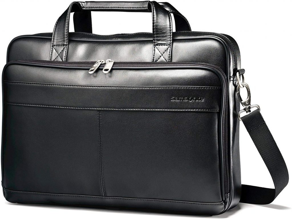 Samsonite Luggage Leather Slim Briefcase