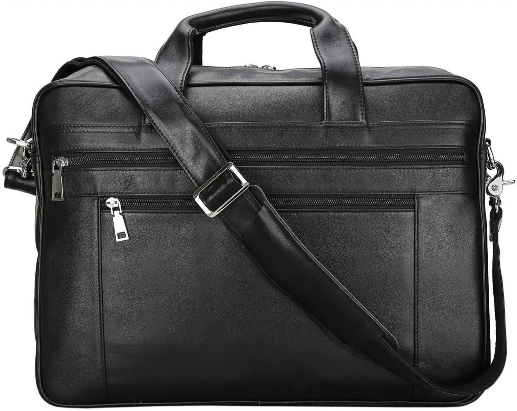 Tembo Genuine Leather Men's Briefcase Messenger Tote Bag