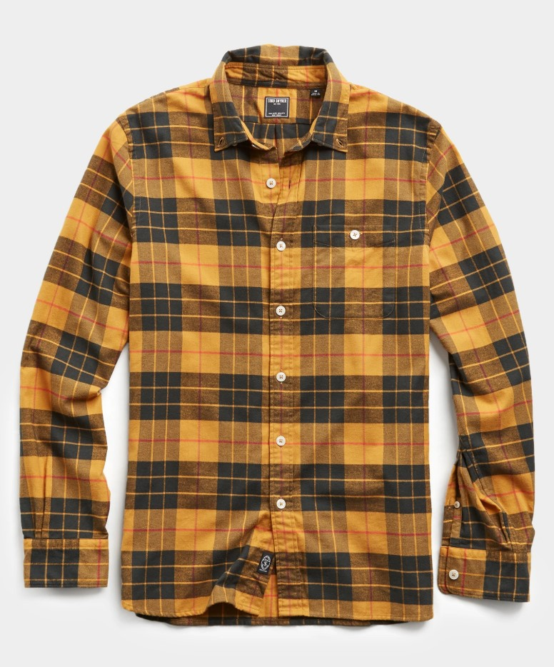 Todd Snyder Scotch Plaid Flannel Shirt