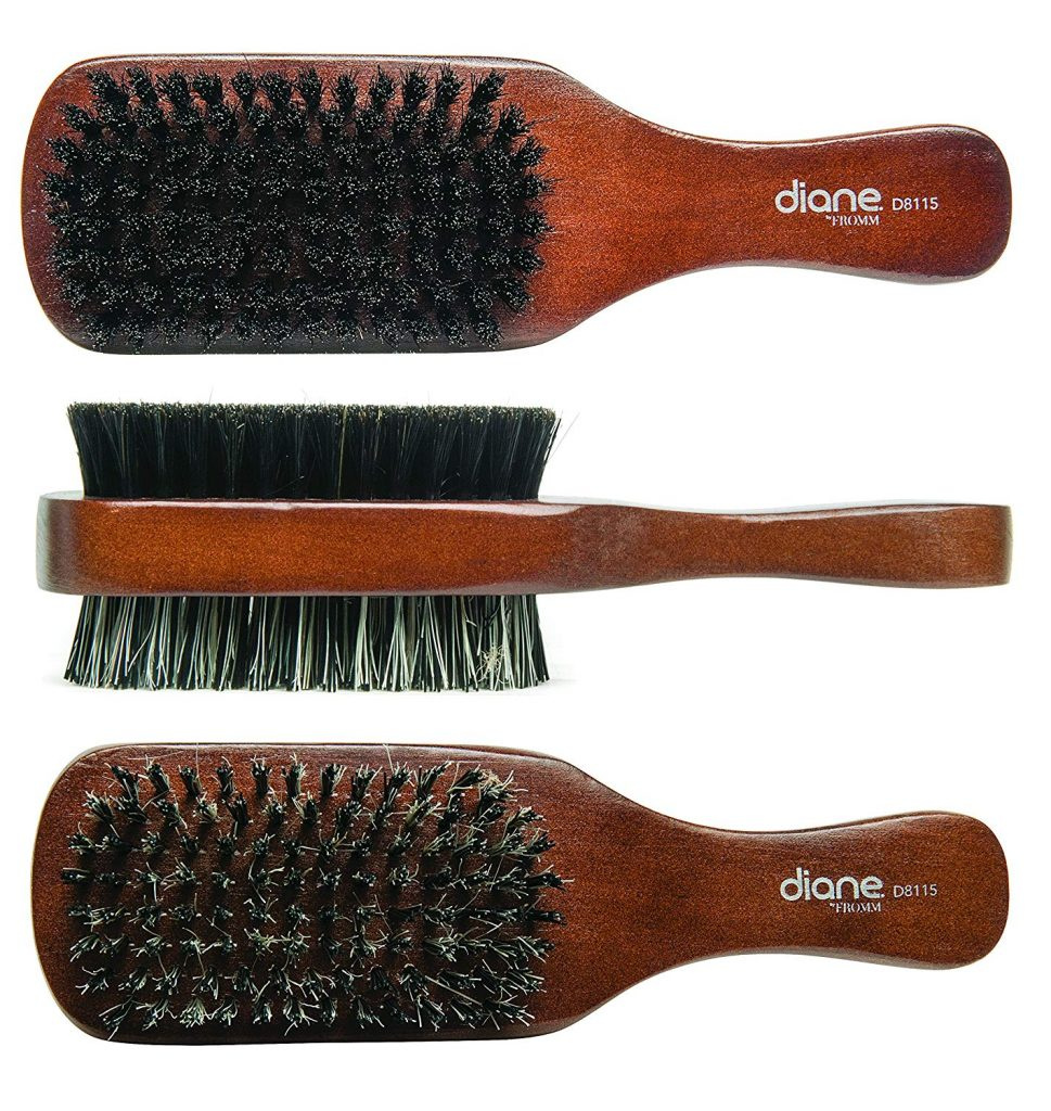 Get a brushed back hairstyle with a good hair brush.
