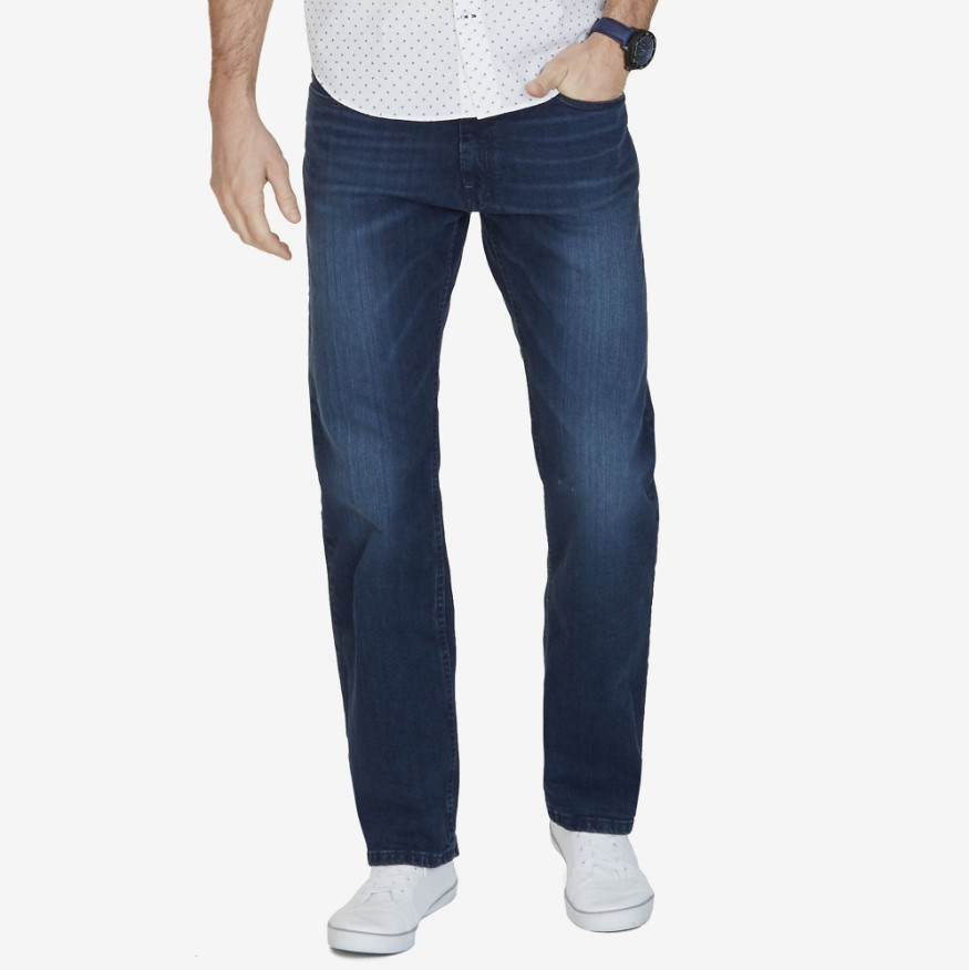 Nautica Big & Tall Relaxed Fit 5-Pocket Jeans