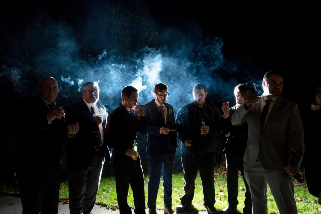 Men Smoking, Suits, Outdoors, Unhealthy Habits
