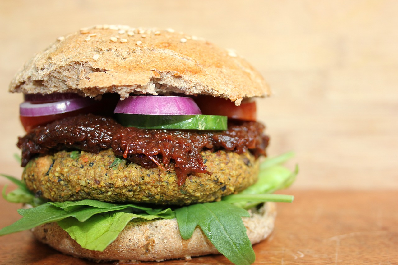 meatless vegan burger