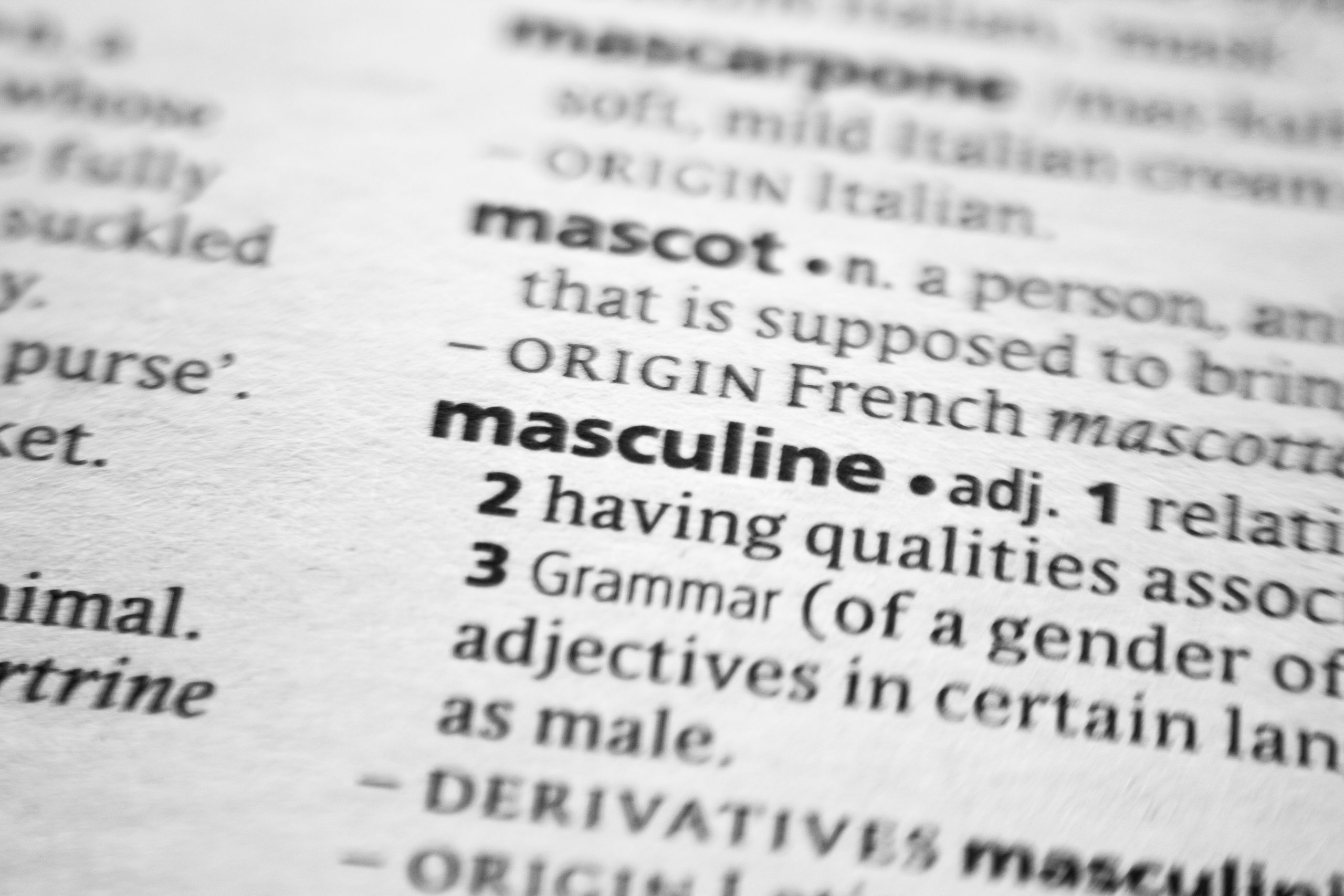 dictionary definition of the word masculine