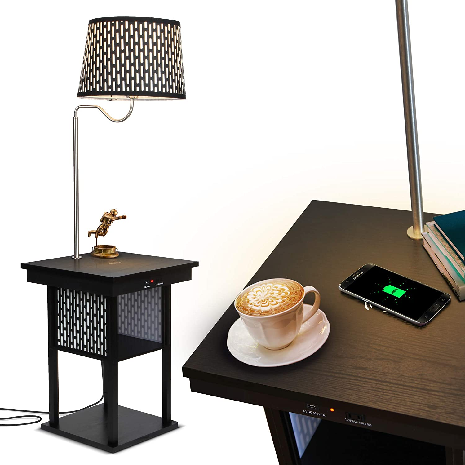 Brightech Madison LED Wireless Charging Pad and USB Port