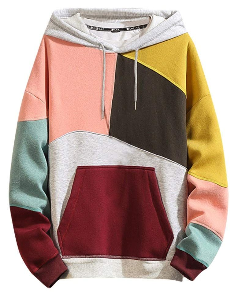 landscap color block hoodie, casual fashion, casual outfits, casual clothes, casual wear