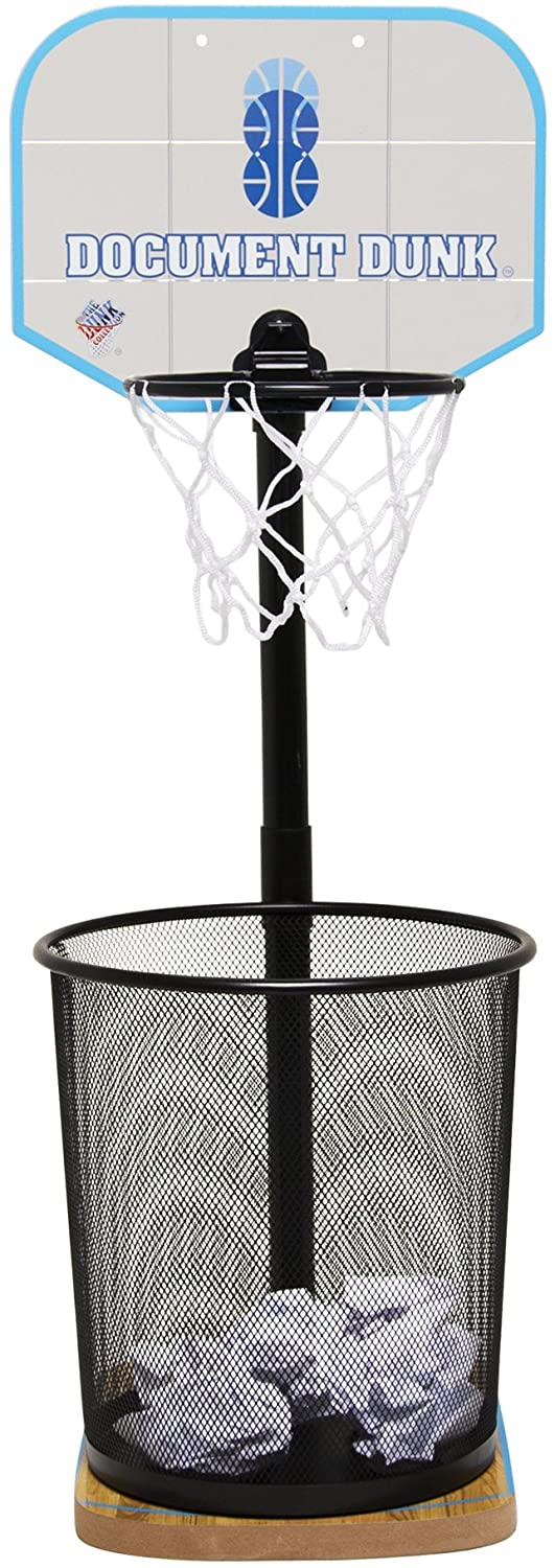 Basketball trash can with hoop