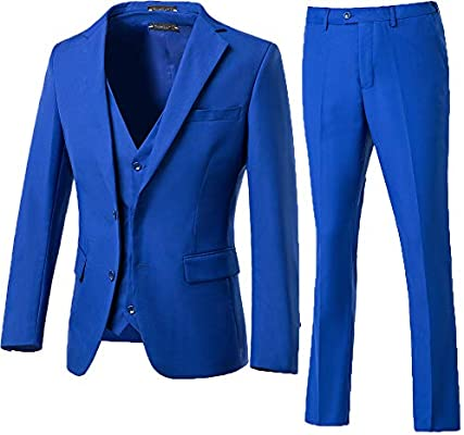 Three-piece suit in blue from High-End Suits for business professional setting
