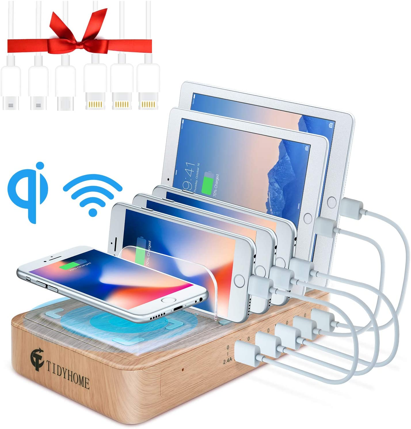 Charging station with office gadgets from TidyHome