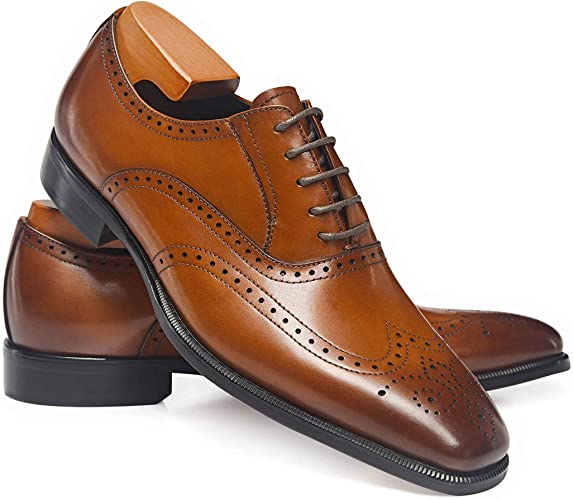 Brown leather dress shoes for business professional look from Frasoicus