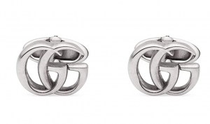Gucci GG Marmont Silver Cufflinks, Men's Formal Wear Accessories, Men's Fashion