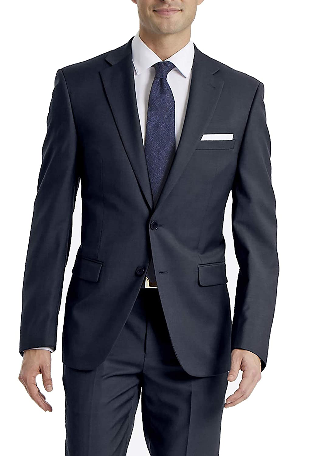 Dark-colored, business professional suit from Calvin Klein